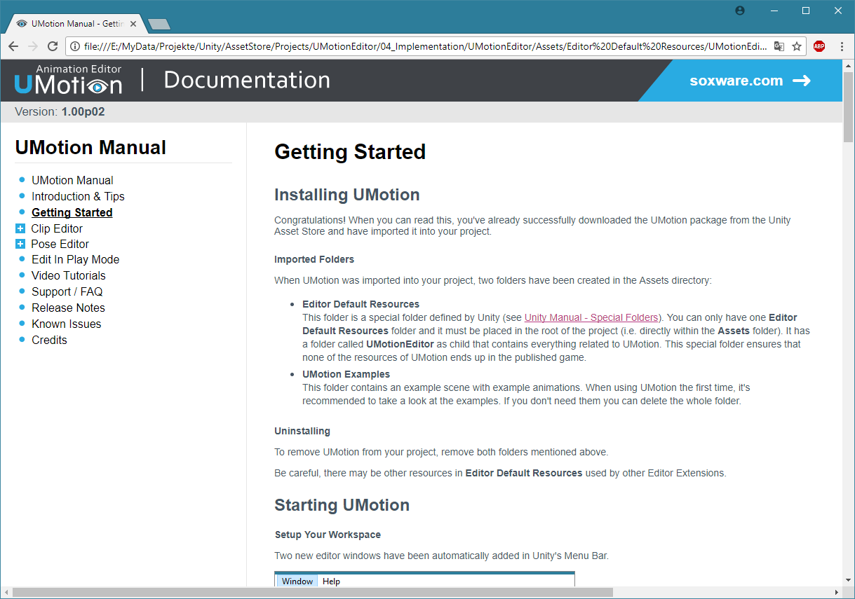 UMotion – Animation Editor – Soxware Interactive